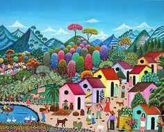 Village in Bloom by Auramar (Aura Marina Pineda) of El Salvador