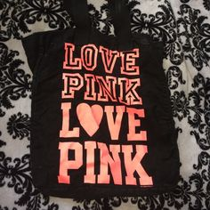 VS tote! Durable canvas type material with shoulder straps PINK Victoria's Secret Bags Totes