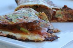 Loaded Meatball Calzones w/ Zucchini Crust