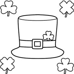St patrick 39 s day craft for kids leprechaun hat color for Leprechaun hat coloring page