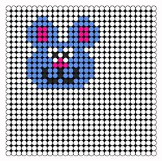 Color Bunny Perler Bead Pattern | Bead Sprites | Animals Fuse Bead Patterns