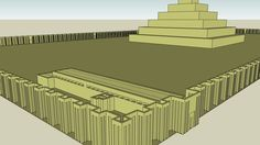 King Djoser Step Pyramid - III Dynasty (2727-2655 BC) - Memphis, Saqqara, Egypt - 3D Warehouse