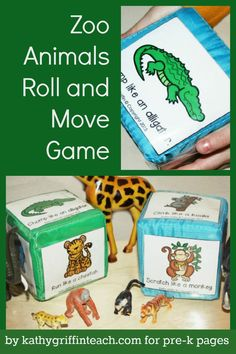 Animals Roll and Move Game Zoo Animals Roll and Move Game for learning and fun in Preschool and Kindergarten!Zoo Animals Roll and Move Game for learning and fun in Preschool and Kindergarten! Zoo Animal Activities, Gross Motor Activities, Preschool Activities, Preschool Learning, Jungle Animal Games, Jungle Theme Activities, Educational Games For Kindergarten, Dear Zoo Activities, Zoo Animal Crafts