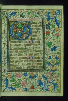 """sexycodicology:  """" Book of Hours, Initial, Walters Manuscript W.202, fol. 45r by Walters Art Museum Illuminated Manuscripts http://flic.kr/p/DiNcrT  """""""