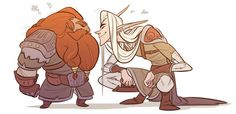 Gimli and Legolas by coconutmilkyway