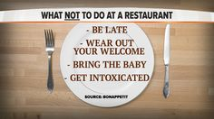 Bon Appetit reveals the top things to not do at a restaurant