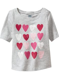 Baby heart graphic tee