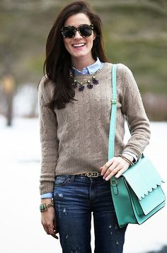 love how Sarah Vickers styled our Anthropologie necklace!