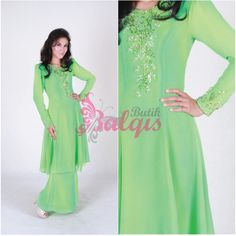 Love this Baju Kurung style but not the colour..
