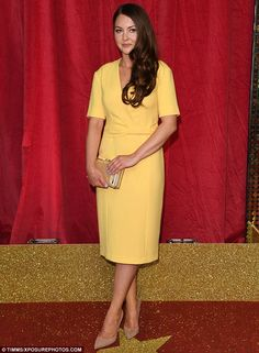 Godlen girl! Lacey Turner was rewarded for her considerable acting endeavours in EastEnders on Saturday night, as she bagged two awards at the British Soap Awards