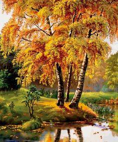 золотая осень - Схемы вышивки - Аленький - Авторы - Портал «Вышивка крестом»