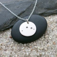 Aries Constellation Necklace Sterling Silver Aries by MahaloSpirit