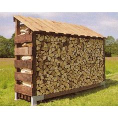 Clearview Log Stores | Clearview Large Single Log Store. Should look good up against the side of the house or shed.
