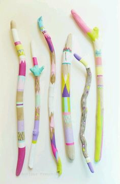 Want to make : painted wood wit pastel and neon colors