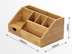 Desk Tidy for Smart Table Organization Small Wood Projects, Cool Woodworking Projects, Woodworking Crafts, Woodworking Techniques, Desk Tidy, Diy Desk, Diy Stationery Organizer, Wooden Desk Organizer, Letter Organizer