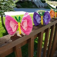 Kid's Spring Themed Craft: Tissue Paper Butterflies