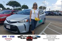 Sam did a great job convincing my husband to was a good idea to buy a new car. He found just the right Toyota Prius for us! Thank you Sam-Ruth Mcmaster, Tuesday 8/9/2016 http://www.lonestartoyotalewisville.com/?utm_source=Flickr&utm_medium=DMaxxPhoto&utm_campaign=DeliveryMaxx