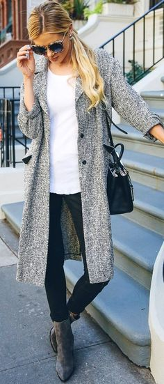 #trending #fall #outfits | Grey + Black and White