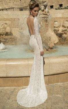 Galia Lahav Wedding Dress - Veneto Gown -Backless, Long Sleeved Gown || Worldwide Collection Premiere: Galia Lahav's Much Anticipated La Dolce Vita {Part 2}