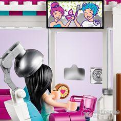 LEGO® Friends - Friseursalon von Heartlake City (41391) Lego Friends, Iron Man, City, Fun, Products, New Haircuts, Barber Shop Names, Scissors, Waiting