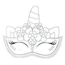 Resultado De Imagen Para Unicornio Para Colorear Unicornios Para Dibujar Dibujos De Unicornios Antifaz De Animales