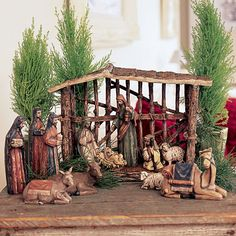 Southern Living at Home Santos Nativity Stable New in Box never used Christmas Crib Ideas, Christmas Tabletop, Christmas Program, Easy Christmas Crafts, Christmas Nativity, Christmas Pictures, Christmas Decorations, Holiday Decorating, Merry Christmas