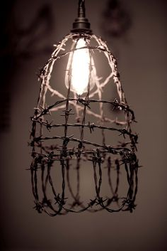 barbwire light bulb cover