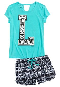 Initial Tribal Pajama Set (original price, $24.90) available at Now thats just looks like me! #Justice
