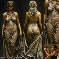 """Bathsheba""_ The Sensual work of Benjamin Victor in bronze version"