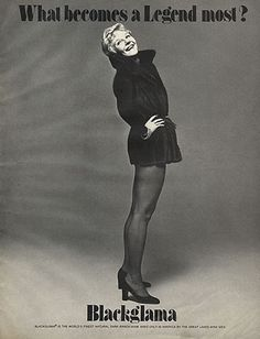 """Mary Martin - Blackglama Mink """"What Becomes A Legend Most?"""" Ad Campaign (1975)."""