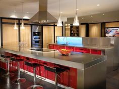 Stainless Steel Counters: Pictures & Ideas From HGTV | Kitchen Ideas & Design with Cabinets, Islands, Backsplashes | HGTV