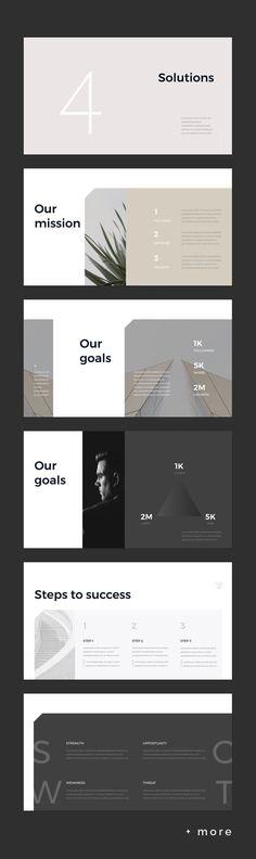 Simple & Minimal Presentation Template - Keynote - Ideas of Keynote - Simple & Minimal Presentation Template Design Brochure, Ppt Design, Slide Design, Book Design, Layout Design, Design Posters, Mise En Page Portfolio, Portfolio Layout, Portfolio Design