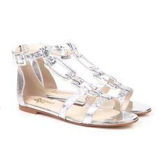 Silver Sansa Sandals