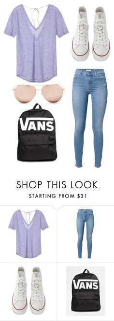 LIKE!!! by clairathegreat on Polyvore featuring Victoria's Secret, 7 For All Mankind, Converse, Linda Farrow and Vans
