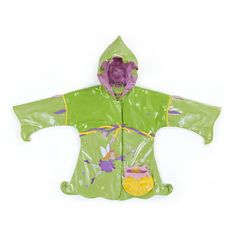 Irresistible and eye-catching, these stylish, upscale coats are the core of a Kidorable ensemble. Fairy all-weather raincoat for your little girl. It is more than just a raincoat, it can be worn every day, all spring, summer and fall. Featuring an enchant