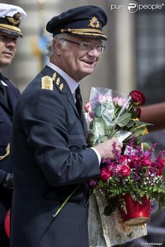 King Carl XVI Gustaf of Sweden during his 67th anniversary Celebrations in Stockholm