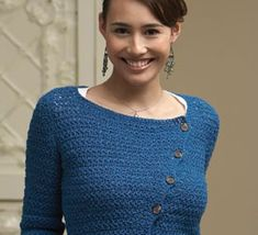 Crochet Lace Top Pattern: Cubist Asymmetrical Cardigan