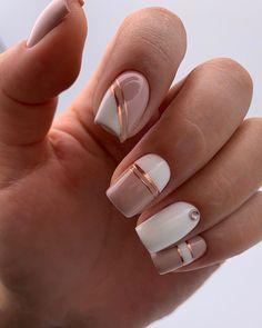 Elegant Nails, Classy Nails, Stylish Nails, Trendy Nails, Cute Nails, Square Nail Designs, Pink Nail Designs, Striped Nail Designs, Classy Nail Designs