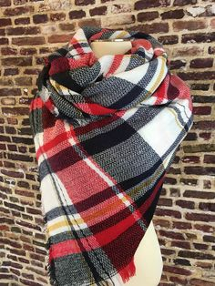 Sitting By The Fire Plaid Blanket Scarf – URBAN MAX LLC
