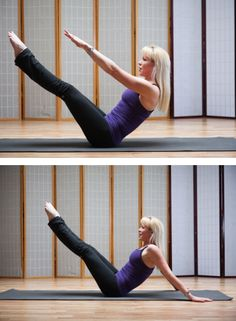 Try these Pilates moves to improve your swing. Think about how far more powerfully you could hit a pitch or ball with proper execution, using more than just your shoulders and arms, which can lead to injuries - 3) Teaser/Hip Twist
