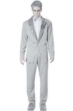 Do it yourself zombie groom halloween costume idea find a thrifted ghostly groom adult costume solutioingenieria Choice Image