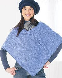 Two-Piece Poncho. This is so easy if you know how to knit VERY simply like I do. Im almost finished with mine. I'm giving mine as a gift!