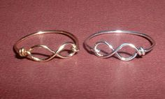 Sterling Silver Infinity Rings Set from GLITTERBOXJEWELRY on Etsy