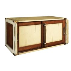 Authentic Models Ivory Campaign Modular Doors in Ivory and Distressed Dark Honey