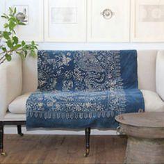 Chinese indigo dyed coverlet