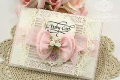 Tutorial Included: Spellbinders Gilded Gatefold Card Tutorial using Spellbinders Gilded Gate Two, Spellbinders Dainty Dots, Spellbinders Floral Ovals, Spellbinders Dresses One, Spellbinders Gold Labels Four - Quietfire Design Welcome Little One Stamp Set - www.amazingpapergrace.com.