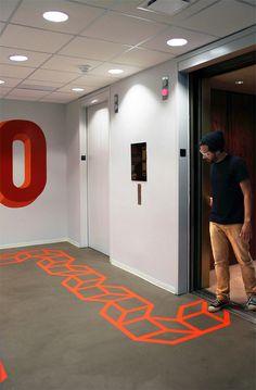 Art installation by aakash nihalani tape wall art, tape art, tape installat Tape Wall Art, Tape Art, Paper Tape, Street Installation, Interactive Installation, Light Installation, Environmental Graphics, Environmental Design, Office Graphics