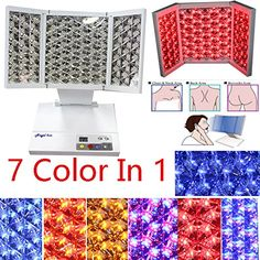 Acne Spot Treatment --- Angel Kiss Foldable Red Blue Yellow PDT LED 7 Color Photon Therapy Skin Rejuvenation Treatment Machine Daily Skin Care Beauty at Home or Salon -- See this wonderful product. (This is an affiliate link). Acne Spot Treatment, Skin Care Treatments, Beauty Salon Equipment, Diy Christmas Lights, Clear Skin Tips, Uneven Skin Tone, Light Therapy, Diy Skin Care, Crafts For Teens
