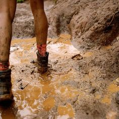 Keep going, in your muddy boots.