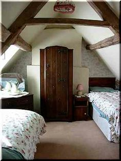 Attic bedroom at Foden Lodge